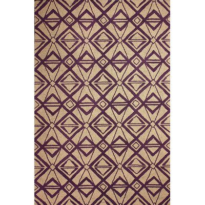 "nuLOOM Novel Purple Imture Indoor/Outdoor Area Rug Rug Size: 7'6"" x 9'6"""