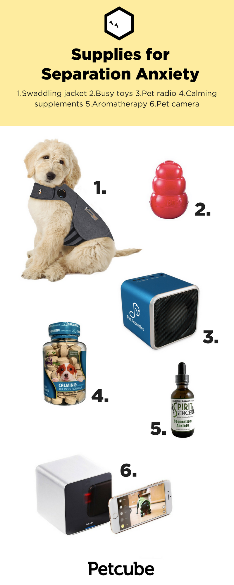 6 supplies to help your dog with separation anxiety | because