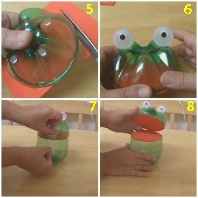 Daur Ulang Botol Minuman Menjadi Mainan Kodok Lucu Daur Ulang Mainan Lucu
