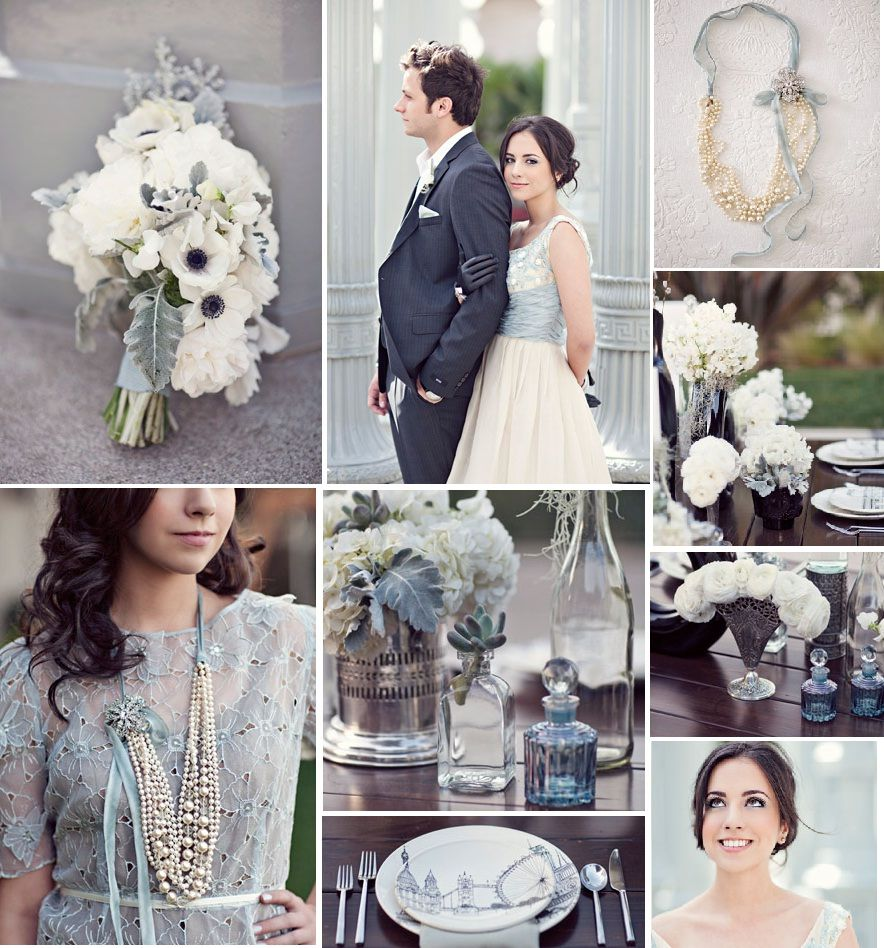 Modern Vintage Pale Blue Wedding To Be