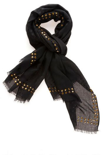 HARROW STUD SCARF IN BLACK