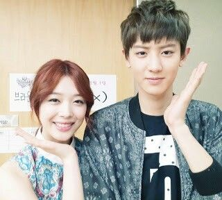 F(x) Sulli snapped a pretty photo with Exo's ChanYeol.