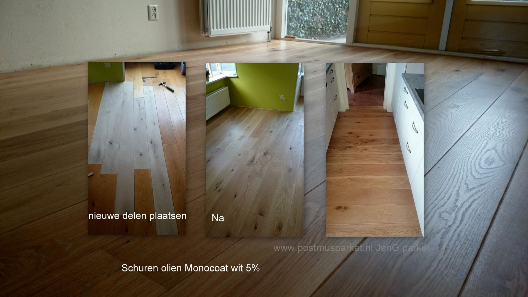 Eiken planken houten vloer delen vervangen schuren velling