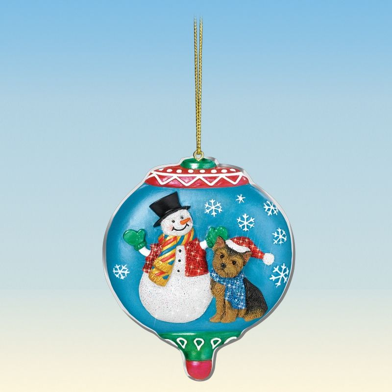 Yorkie Christmas Ornaments - Your 1st One is FREE! - The Danbury Mint