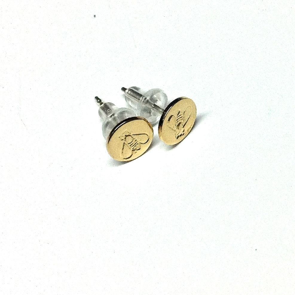 Cheyenne Wyoming artist, Alexis Drake, makes these tiny bee earrings, 14K gold fill and sterling…...