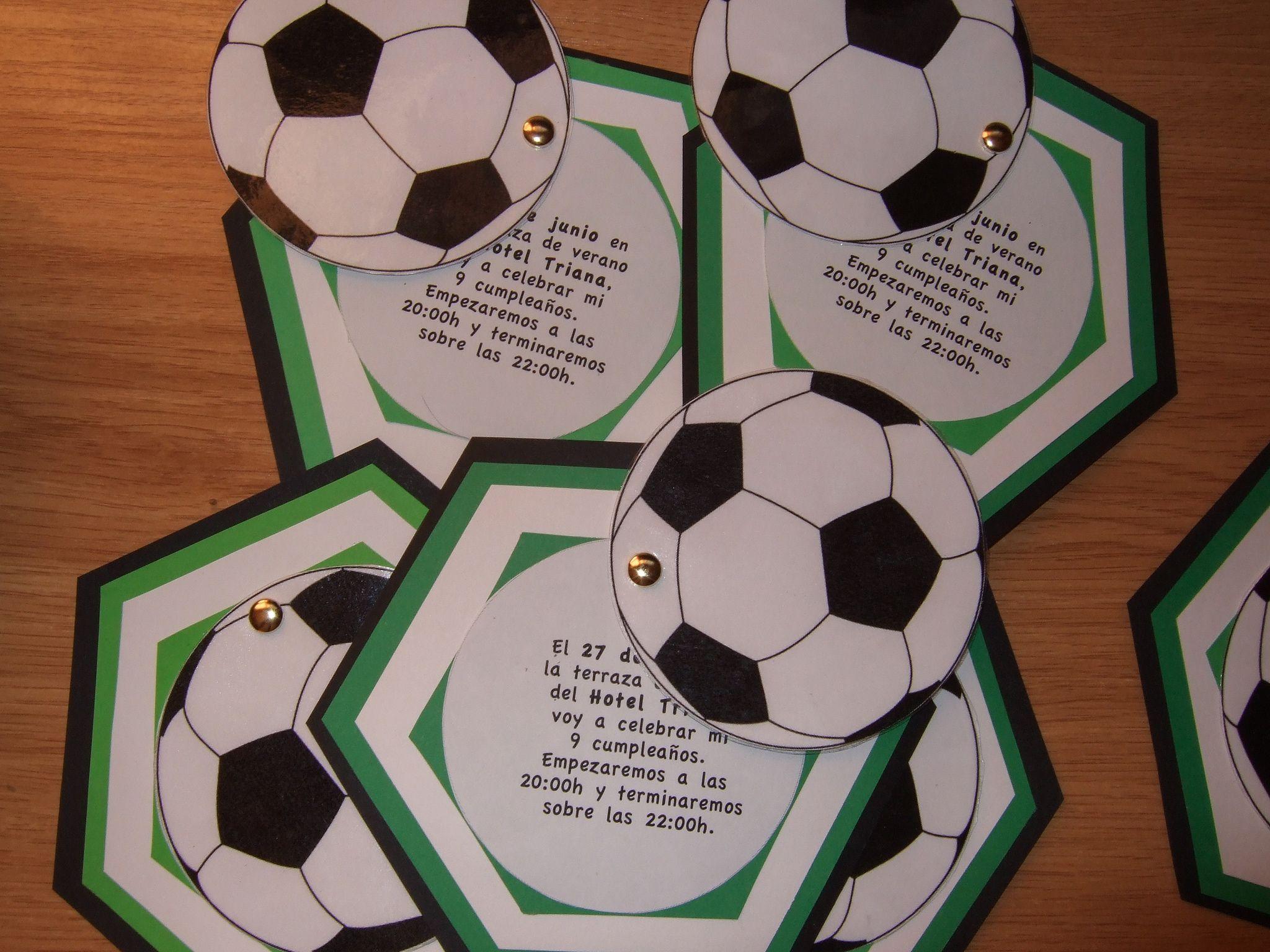 Tarjeta Invitación Futbol Invitaciones De Cumpleaños