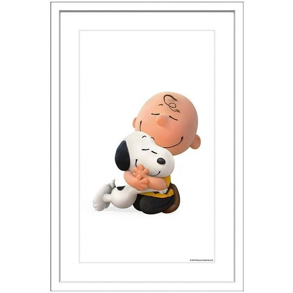 Peanuts Snoopy Charlie Hug Framed Wall Art By Marmont Hill 141 Liked On Polyvore Featuring Home Home Decor Wall Art Snoopy Peanuts Snoopy Snoopy Love