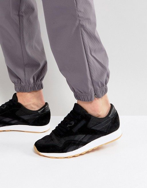 Reebok Classic Leather Nylon HS Sneakers In Black BD6002