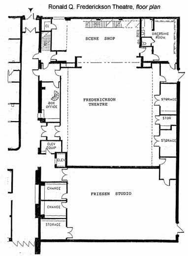 Ronald Q Frederickson Theatre Floor Plan Emporia State