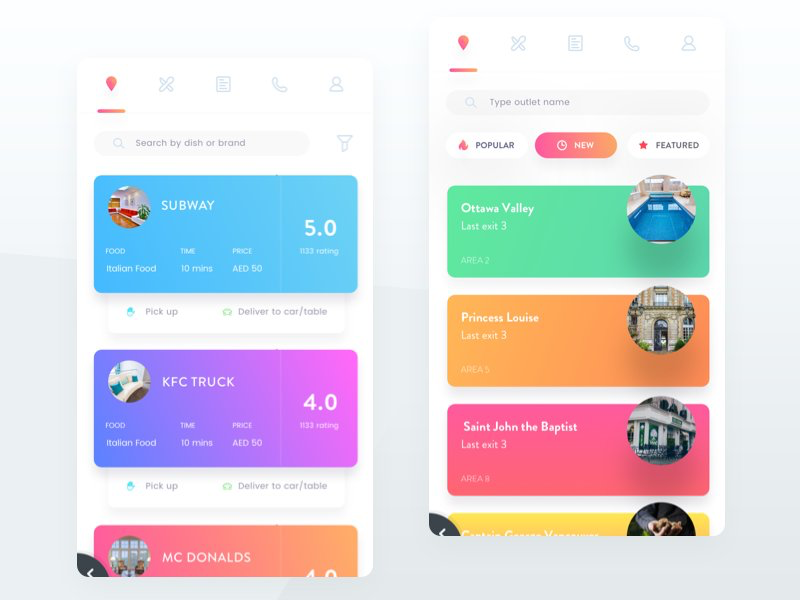 Like colors and floating icons | Ios app design, Android ...