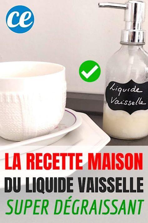 Enfin une Recette De Liquide Vaisselle Fait Maison Super Dégraissant ... d462a9cf6c60