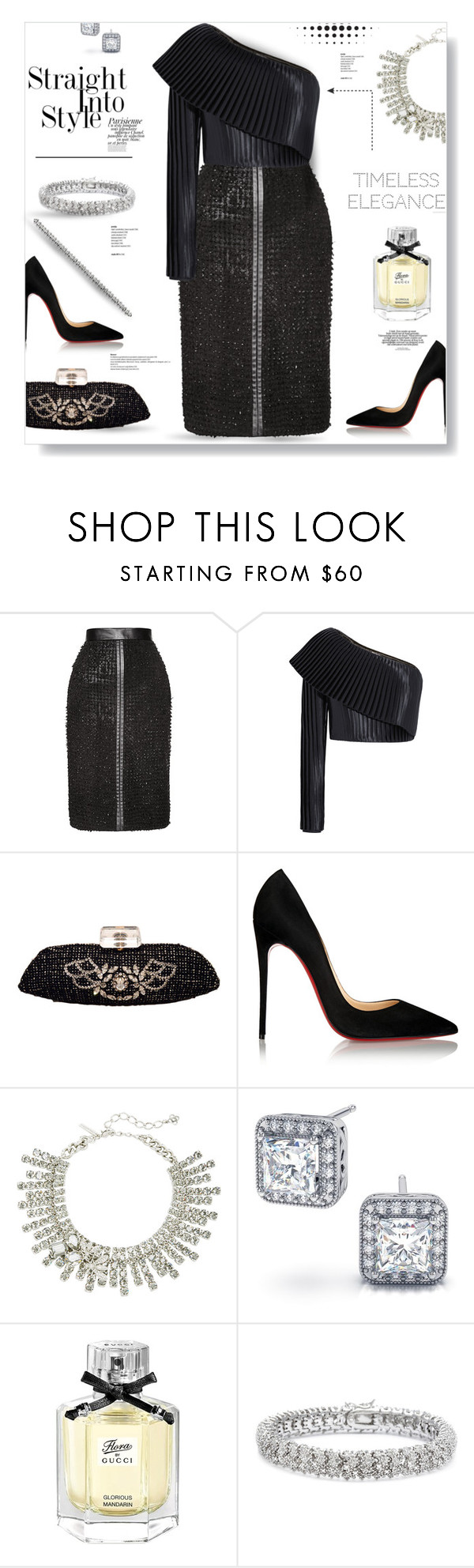 """Timeless Elegance..."" by desert-belle ❤ liked on Polyvore featuring J. Mendel, Balmain, Chanel, Christian Louboutin, Oscar de la Renta, Magdalena, Gucci, Finesque, women's clothing and women"