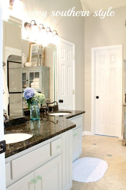 Master Bath Cabinets Are Finished Country House Decor Paint Colors For Home Savvy Southern Style