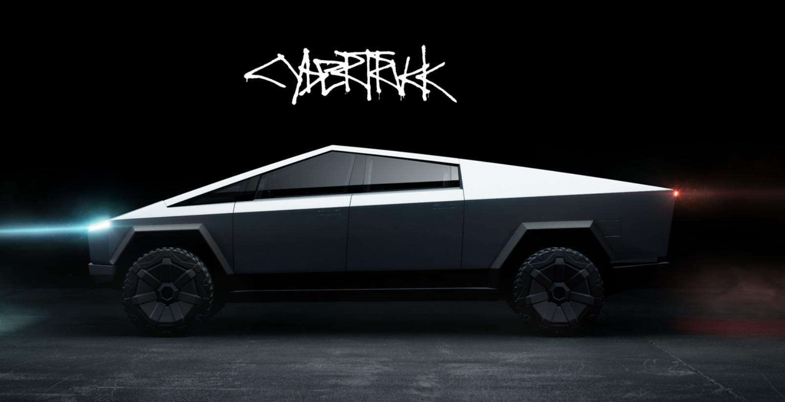 The Tesla Cybertruck S Graffiti Style Font Has Merchandise Written All Over It Top Speed Tesla Vehicles Electric Cars