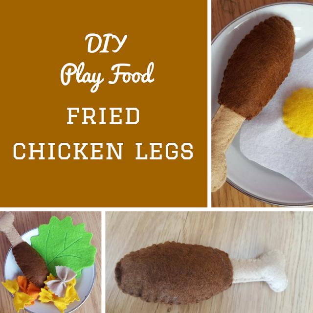Fridayfrivolity Diy Play Food Fried Chicken Legs Keeping It