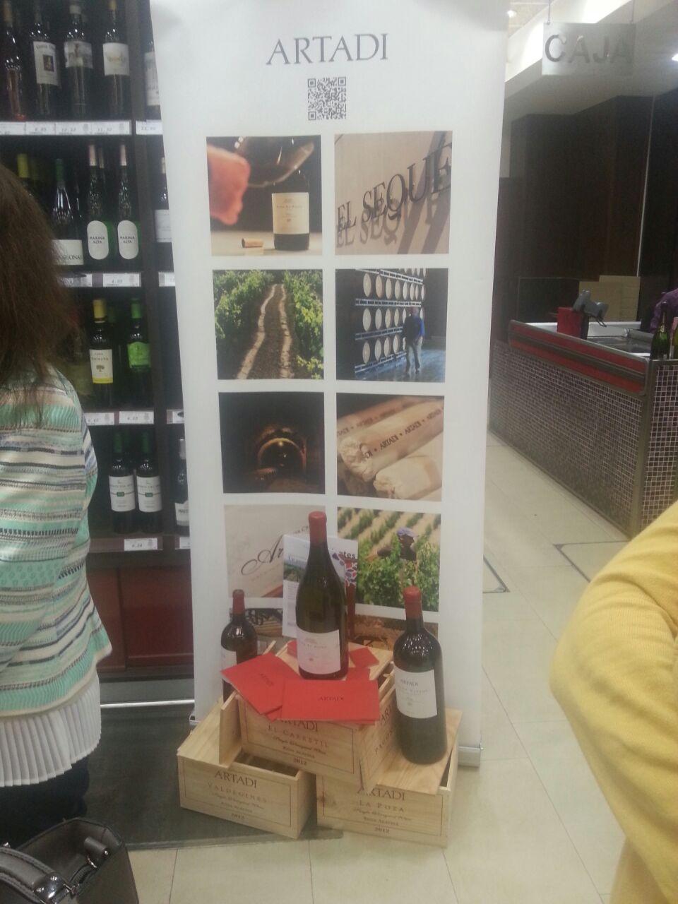 Vinos Artadi en Bodega Santa Cecilia