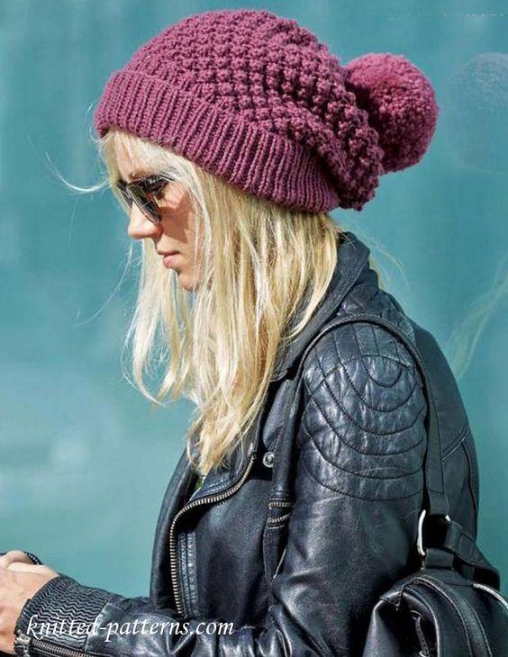 Women's beanie knitting pattern free: