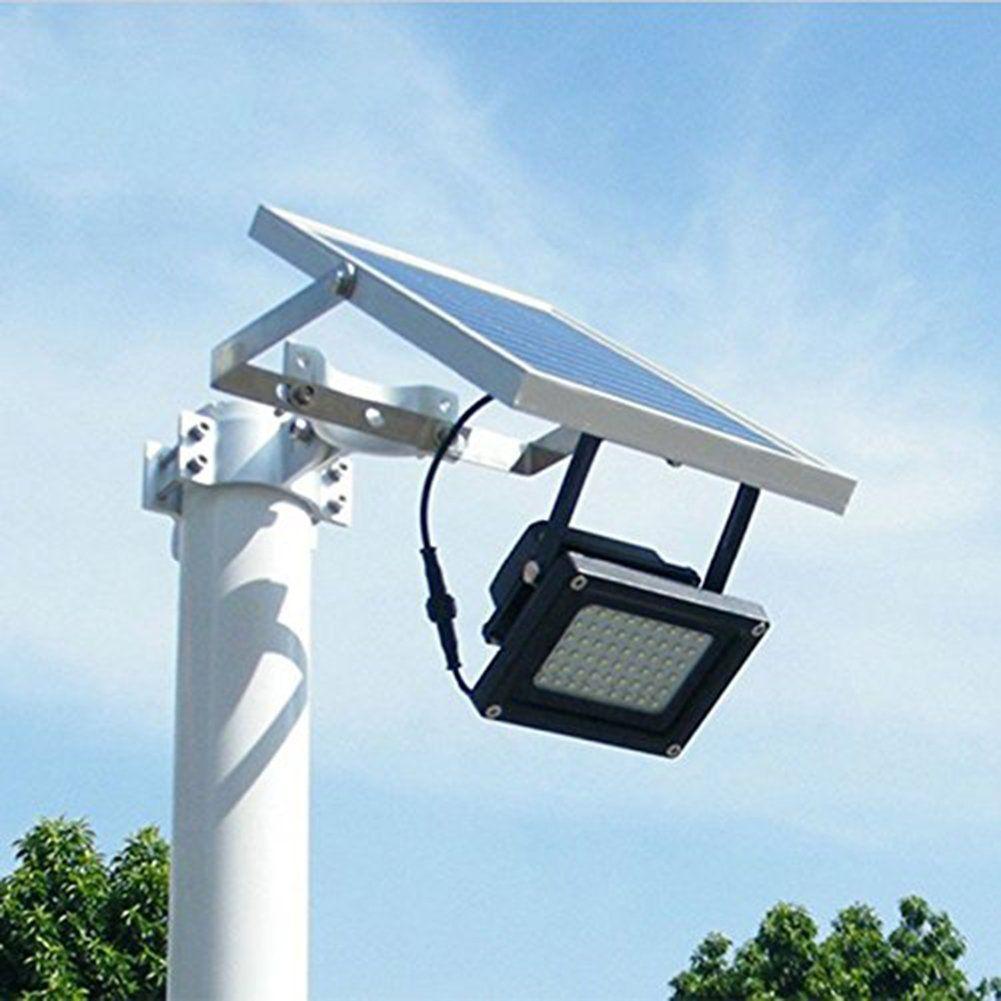 Solar Ed Floodlight Spotlight Outdoor Waterproof Security Light 54led 400 Lumen For Home Garden Lawn Pool