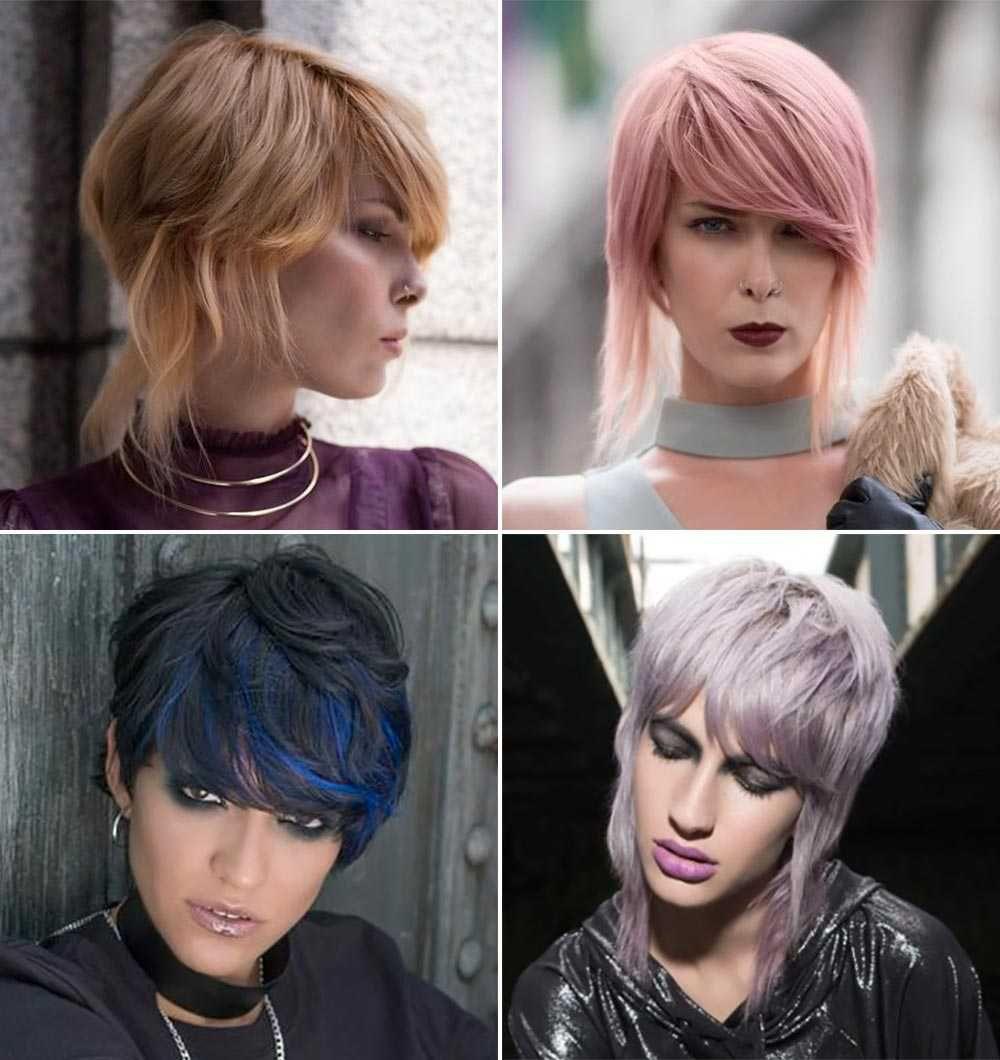 Tagli corti capelli viola, rosa, blu, biondi inverno 2018 ...