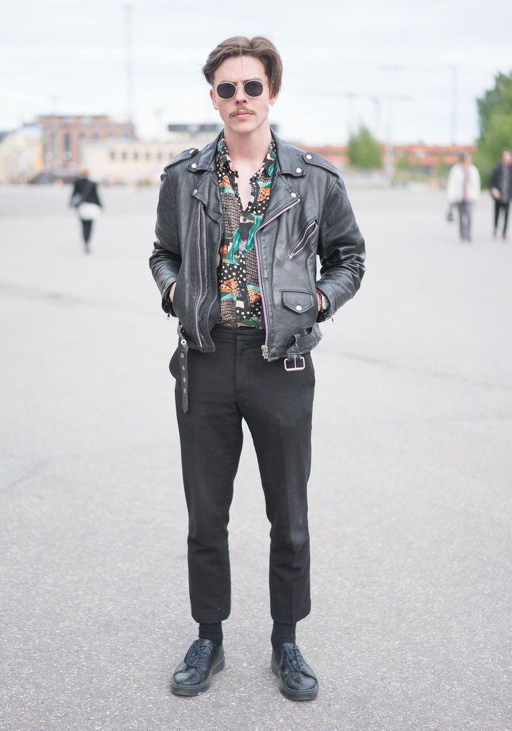 Atte Hel Looks Street Style From Helsinki Leather Jacket Street Style Streetwear Men Outfits Best Mens Fashion