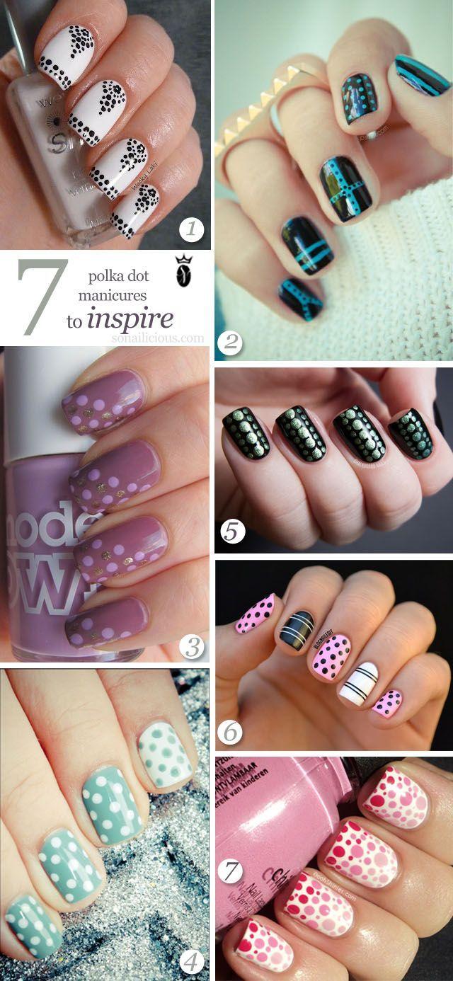43 Adorable Polka dot nails art | AMAZING NAILS 2 | Pinterest | Dot ...