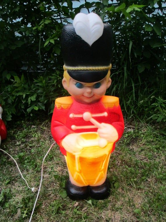 Drummer Boy Blow Mold Solider Etsy Blow molding