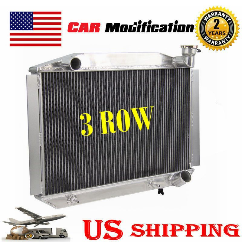3 Row Tri Core Aluminum Radiator For 19551960 Chevy