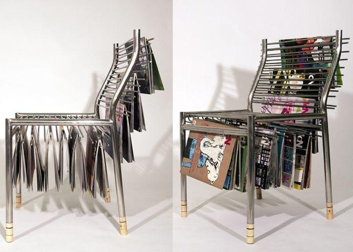 Magazine Hanger Chair A Creative Storage Item For Your