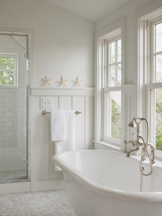 Charming Board And Batten Wainscoting, Cottage, Bathroom, Sophie Metz Design