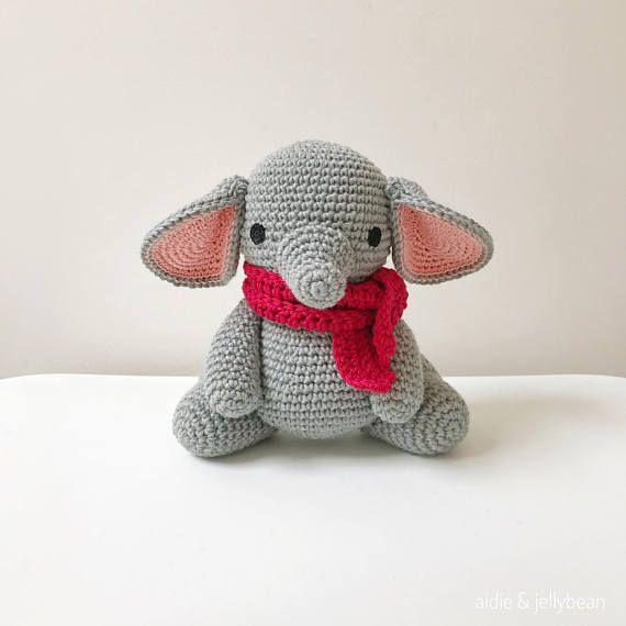 Elephant crochet amigurumi elephant elephant baby gift crochet elephant crochet amigurumi elephant elephant baby gift negle Image collections