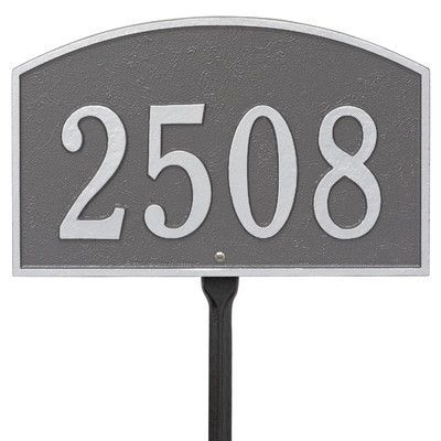 Old Century Forge Legacy 1-Line Standard Lawn Address Plaque Finish: Pewter / Silver