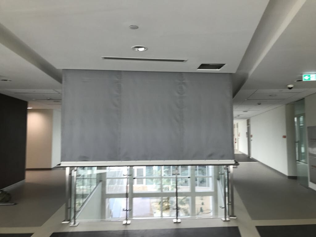 Kent Smoke And Fire Curtain In Dubai University Curtains Home Home Decor