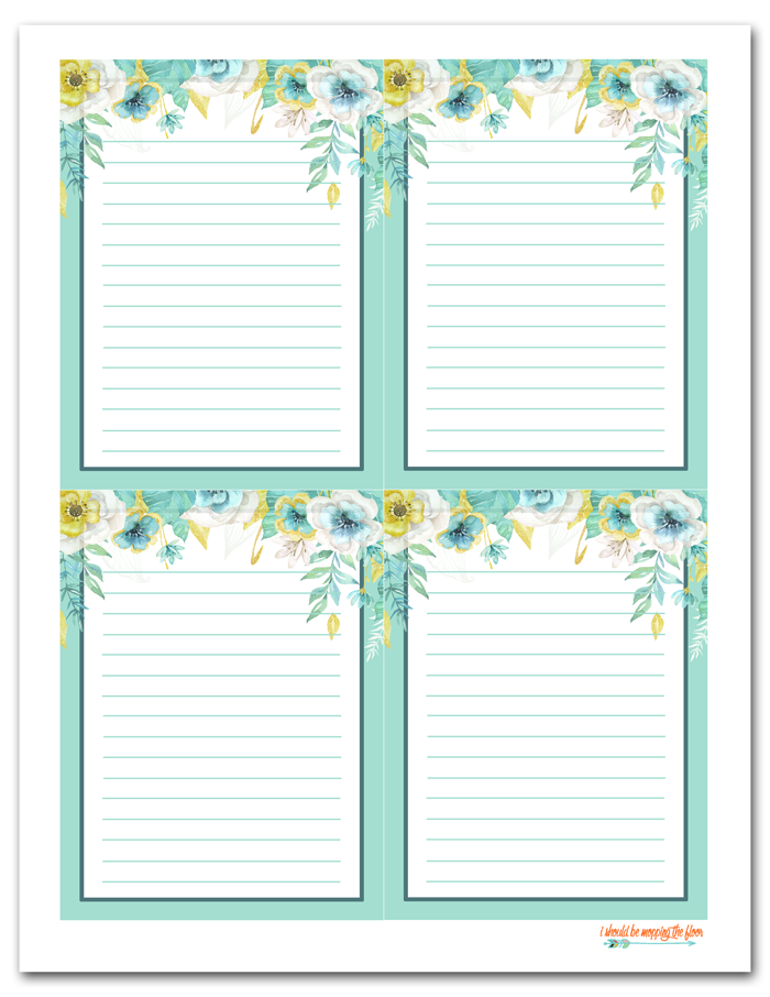 Free Printable Floral Gift Tags Printable Note Cards Free Printable Stationery Printable Journal Cards