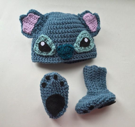 Handmade crochet stitich inspired disney character hat, lelo and ...