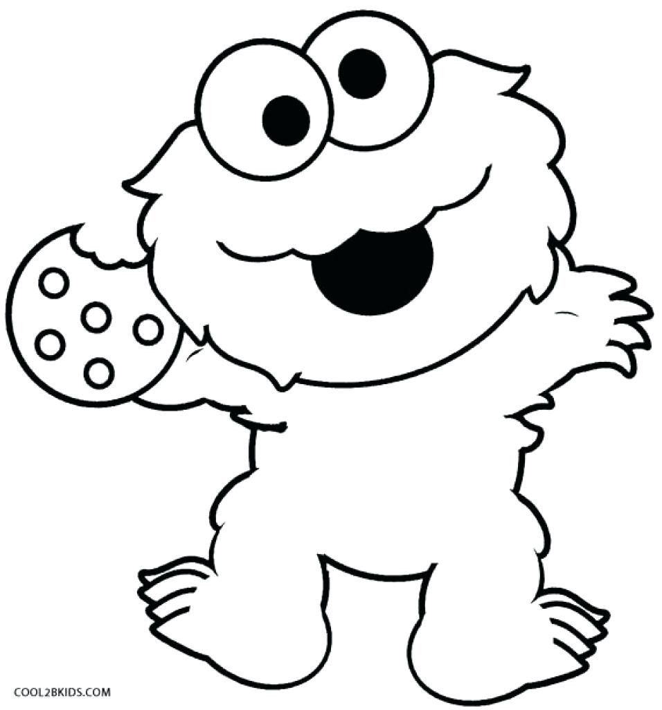 Cookie Monster Coloring Page Printable Cookie Monster