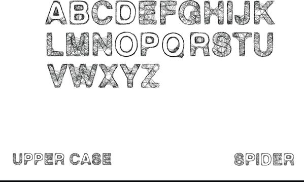 Spider Type is a handmade eps font  The project was made guide of