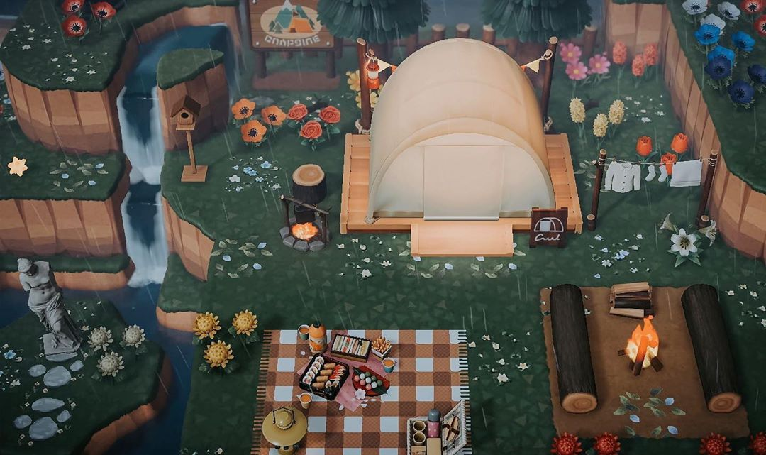 Animal Crossing New Horizons On Instagram Campsite Area Credit To Nookimchi On Twitter Cre In 2020 Animal Crossing Animal Crossing Villagers Animal Crossing Guide