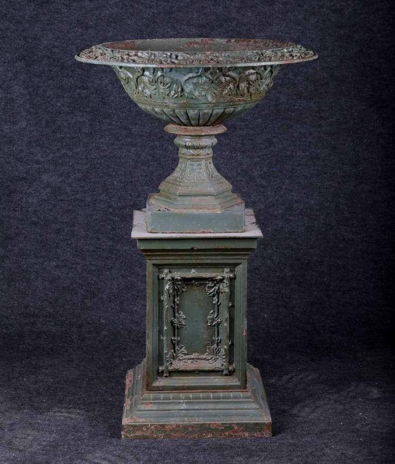 Vintage Cast Iron Urns Antique American Cast Iron Urn And Pedestal At 1stdibs Antique Urn French Urns Urn