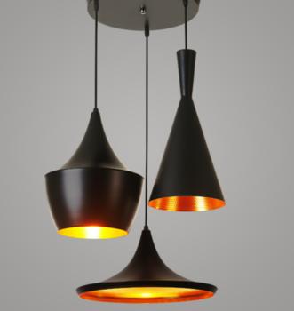Hat Shape Lamp Lighting Chandelier Black Aluminum Material Lighting Fixtures Modern Modern Hanging Lights Modern Light Fixtures Hanging Light Fixtures
