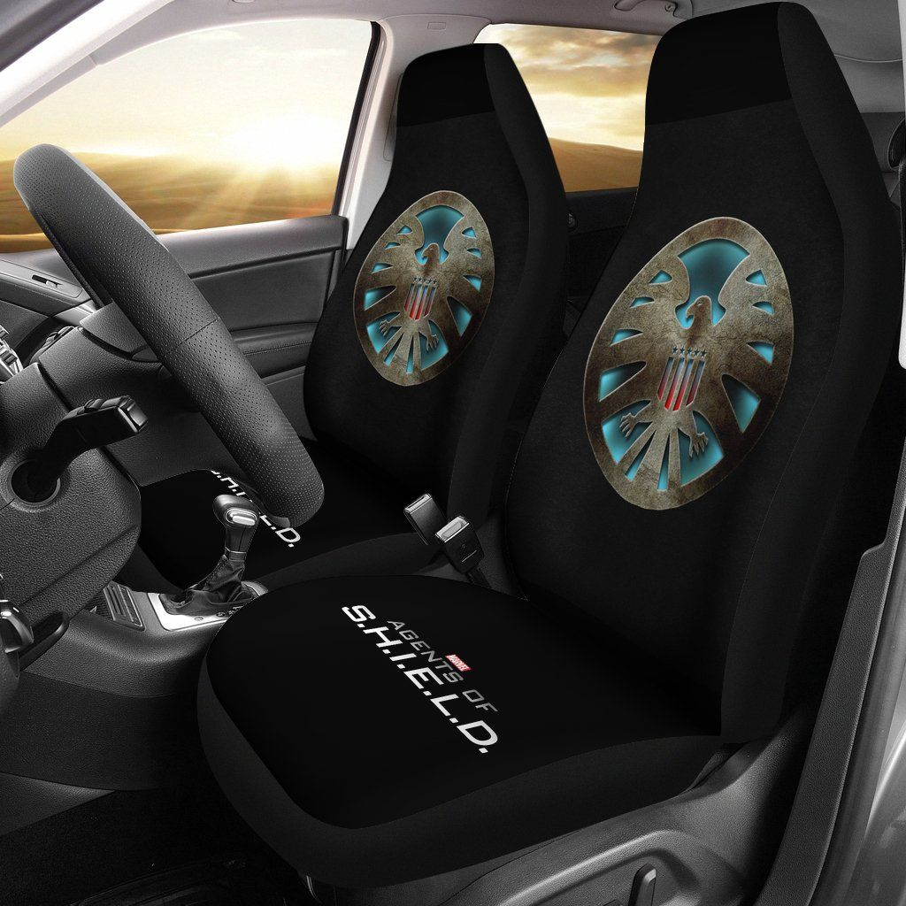 Marvel Agents Of Shield Logo Falcon Car Seat Covers LT03