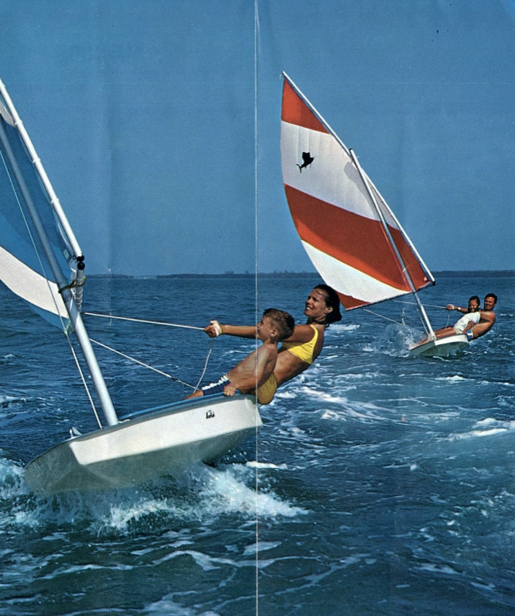 Sunfish from a '71 brochure    Boast Life in 2019   Sailing