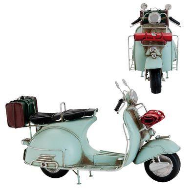 Clayre & Eef webshop voor winkeliers::Woondecoratie::Beelden, figuren en voorwerpen::Vervoermiddelen en oude gereedschappen::6Y1729 Model scooter