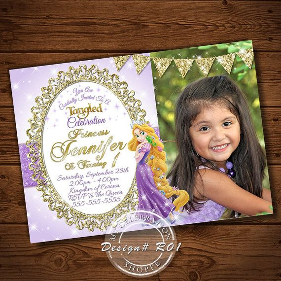 Rapunzel Invitation Rapunzel birthday invitation Tangled Rapunzel