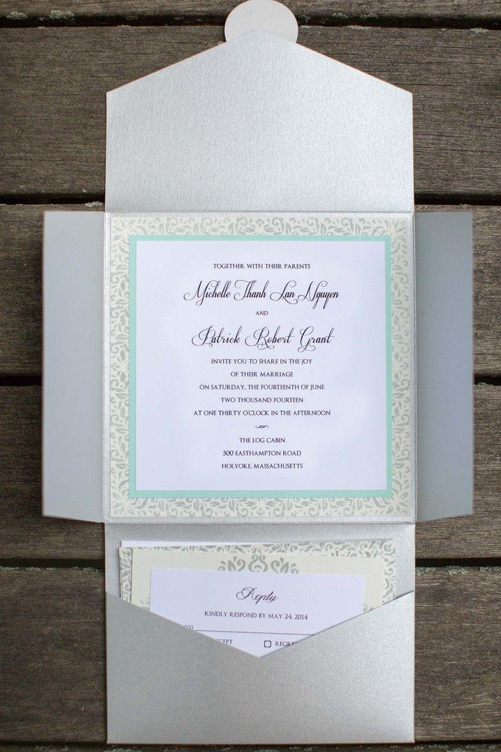 Contemporary Square Wedding Invitations Tobin Photography https