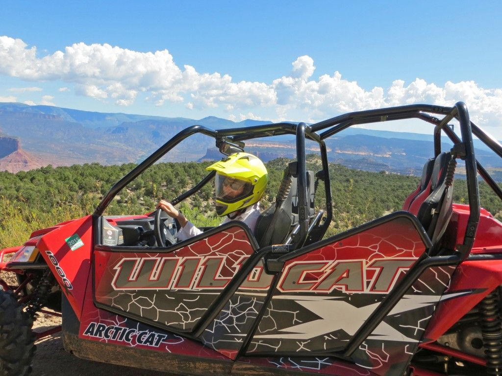 ATV tours at Gateway Canyons. Here we're showing off the