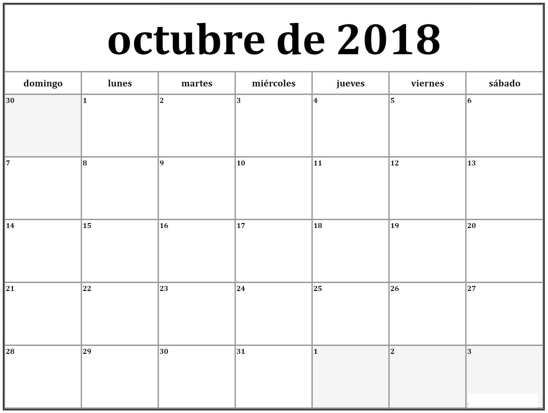 Calendario 2017 Colombia.Calendario Octubre 2018 Argentina Calendario Octubre 2018