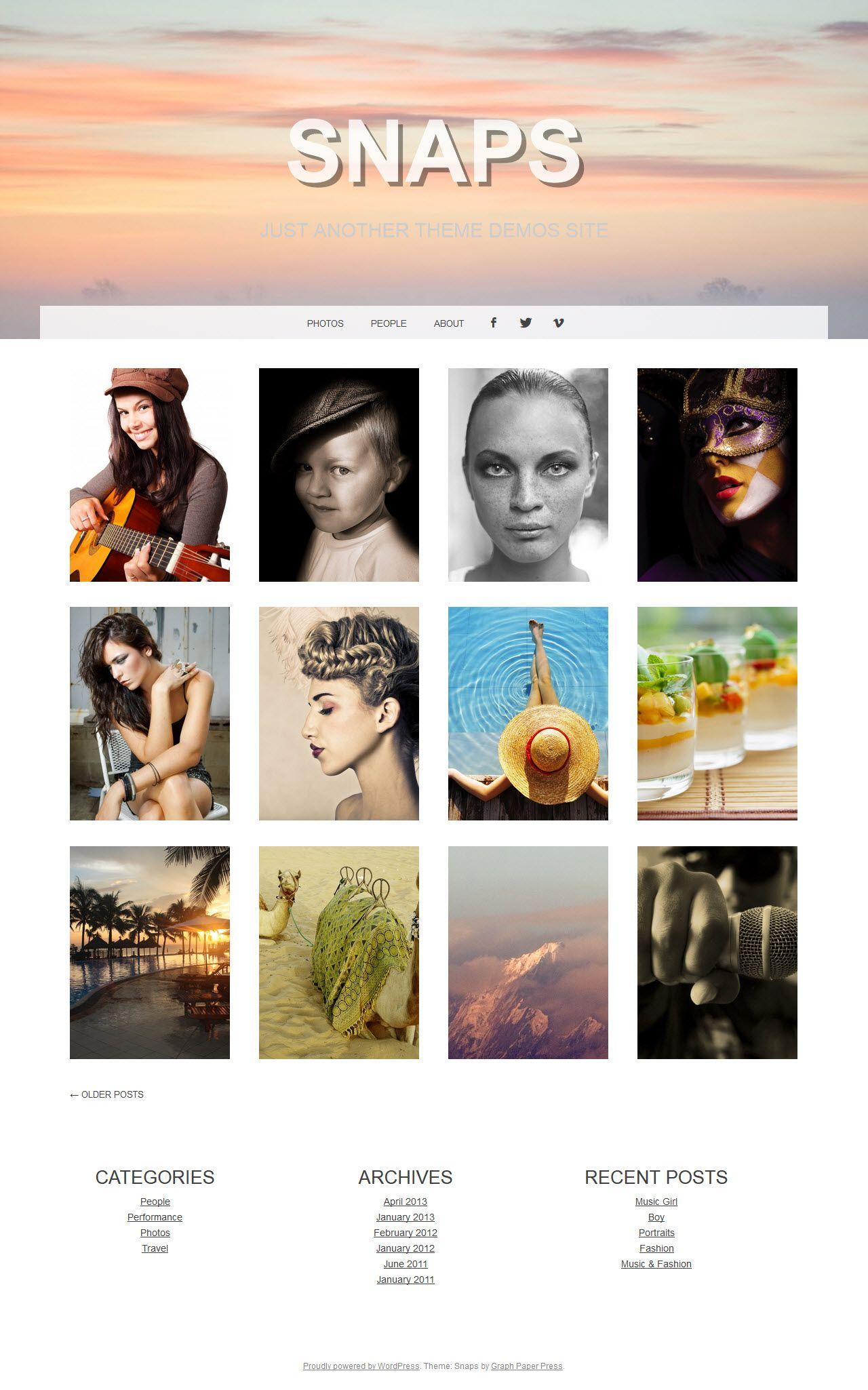 70 Best Free Wordpress Themes 2014
