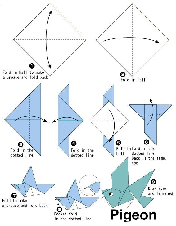 origami pigeon О�игами 1 pinterest origami origami