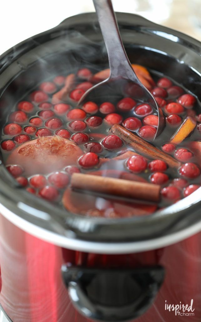 This Warm Cranberry Holdiay Sangria perfect for entertaining in the fall.