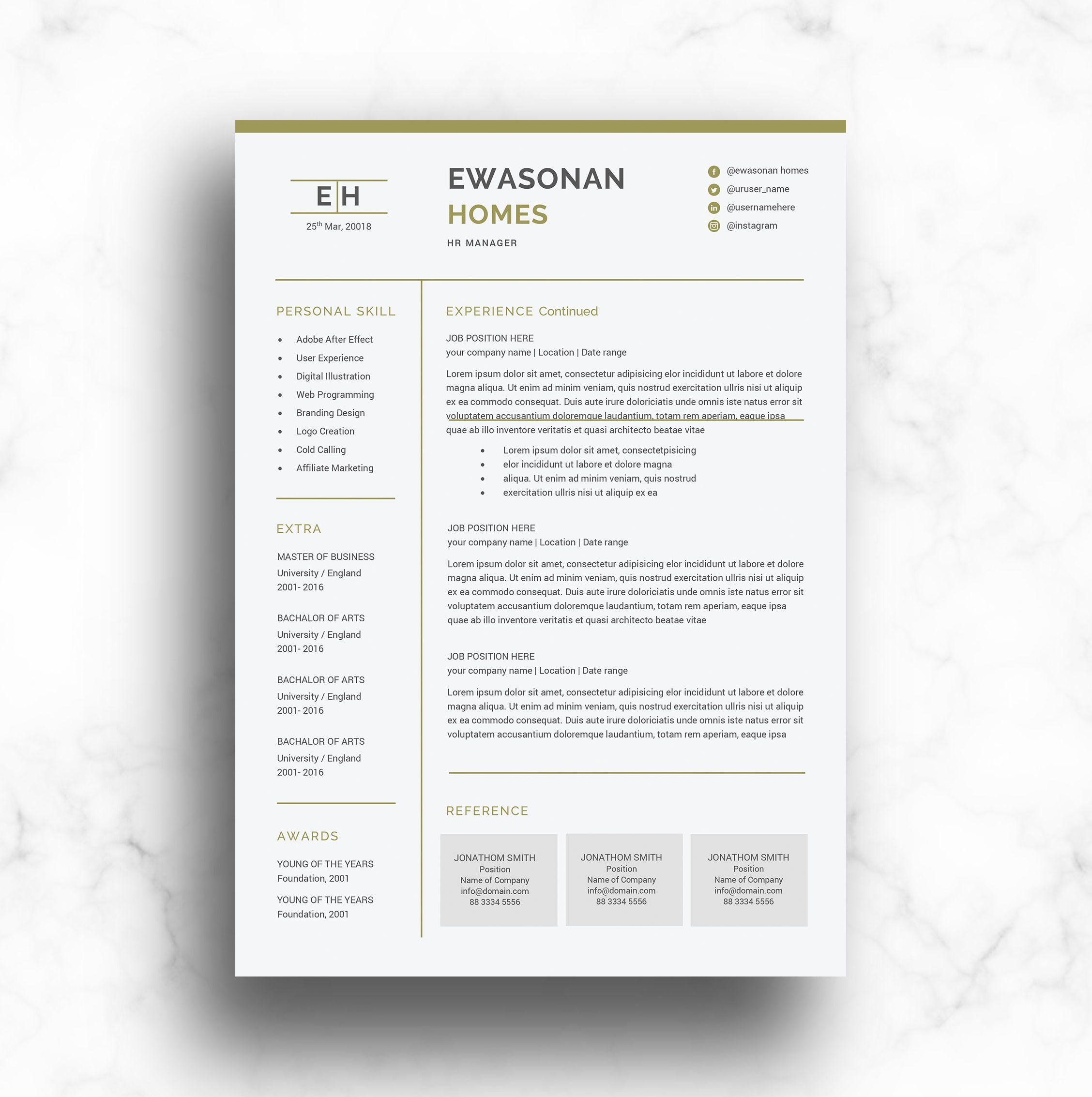 Resumeprofessional Resume Template Word Modern Resume Template